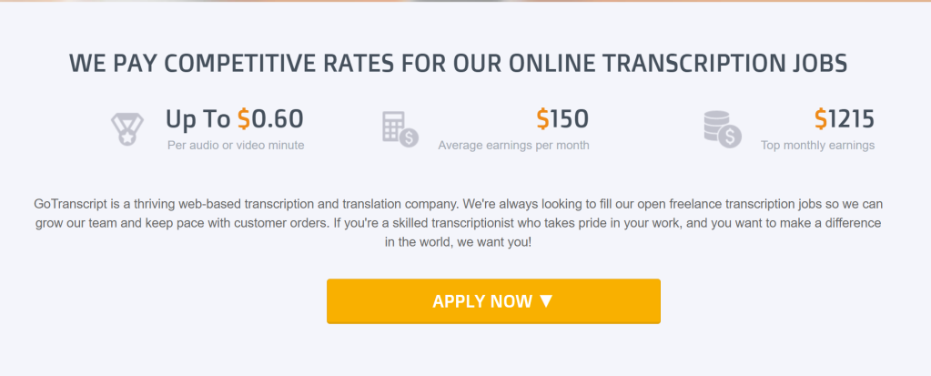 How much can I earn with GoTranscript as a transcriber? How to register at GoTranscript as a transcriber. Work from home jobs